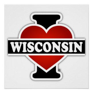 I Heart Wisconsin Poster