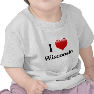 I Heart Wisconsin T-shirts