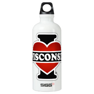 I Heart Wisconsin Water Bottle