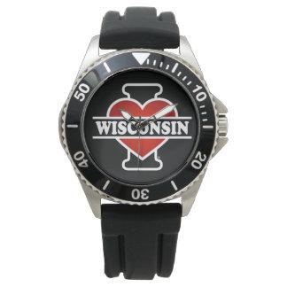 I Heart Wisconsin Wristwatches