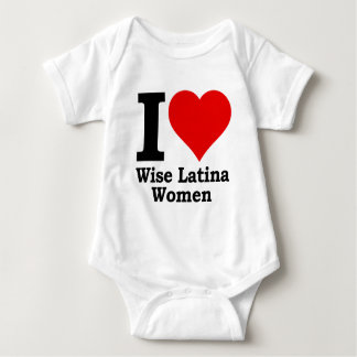 I (heart) Wise Latina Women Baby Bodysuit