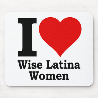 I (heart) Wise Latina Women Mouse Pad