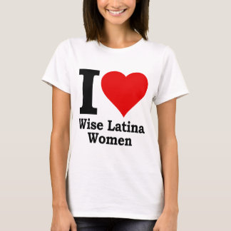 I (heart) Wise Latina Women T-Shirt