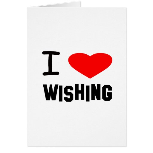 I Heart wishing Greeting Cards