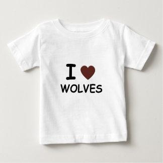 I HEART WOLVES BABY T-Shirt