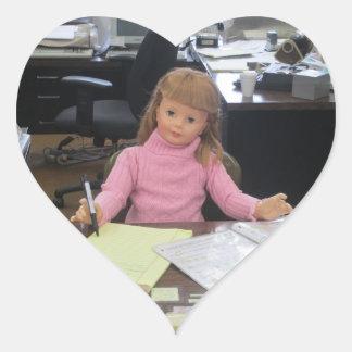 I Heart Work Heart Sticker