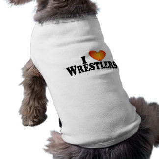 I (heart) Wrestlers - Dog T-Shirt