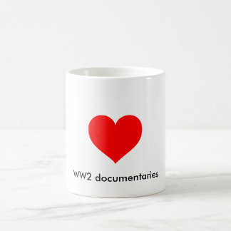 I heart WW2 documentaries Classic White Coffee Mug