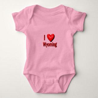 I Heart Wyoming Baby Bodysuit