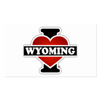 I Heart Wyoming Double-Sided Standard Business Cards (Pack Of 100)