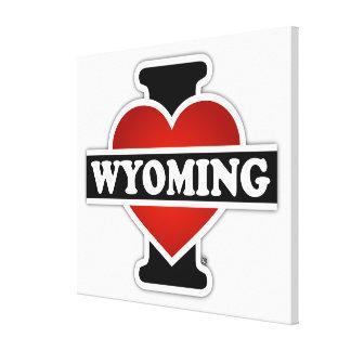 I Heart Wyoming Canvas Print