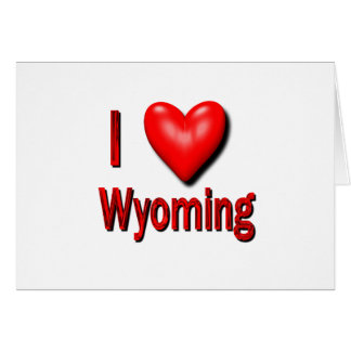 I Heart Wyoming Card