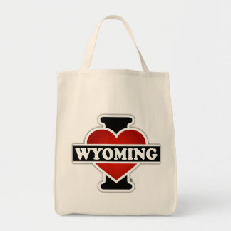 I Heart Wyoming Grocery Tote Bag