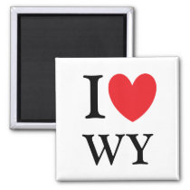 I Heart Wyoming Magnet
