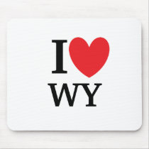 I Heart Wyoming Mousepad
