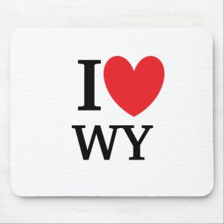 I Heart Wyoming Mousepad