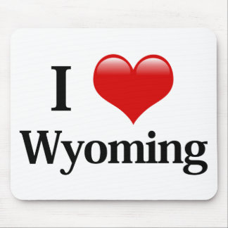 I Heart Wyoming Mouse Pad
