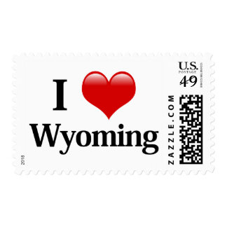 I Heart Wyoming Postage Stamp