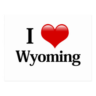 I Heart Wyoming Postcard