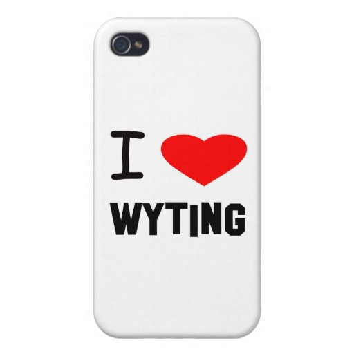 i heart wyting iPhone 4 covers