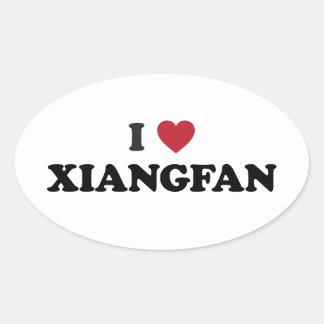 I Heart Xiangyang China Oval Sticker