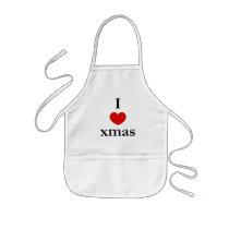 I heart Xmas - Christmas Kids' Apron