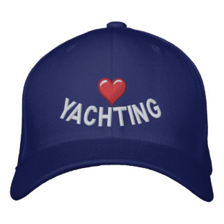 I heart yachting embroidered baseball cap