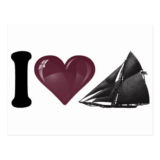 I Heart Yachting Postcard