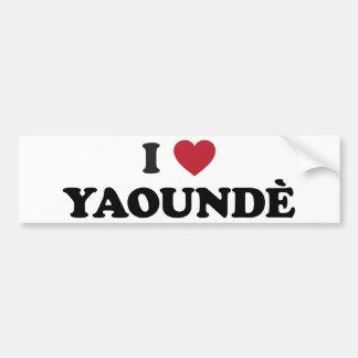 I Heart Yaounde Cameroon Bumper Sticker