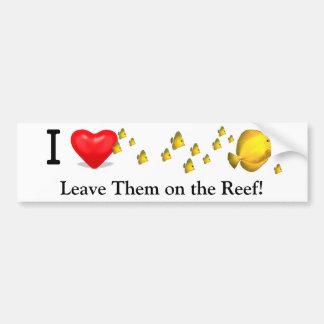 I 'Heart' Yellow Tangs Bumper Sticker
