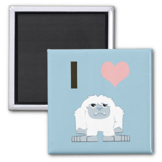 I heart yeti 2 inch square magnet