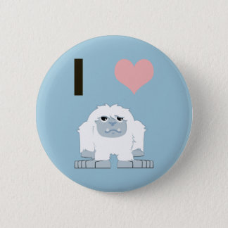 I heart yeti pinback button