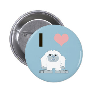 I heart yeti pinback button
