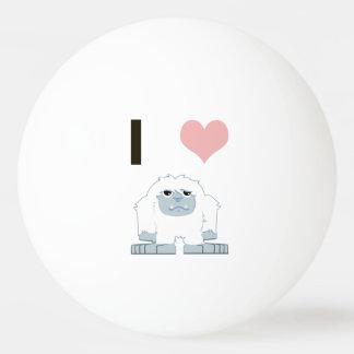 I heart yeti Ping-Pong ball
