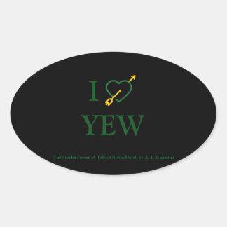 I *Heart* YEW Sticker