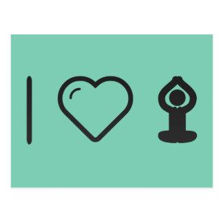 I Heart Yogas Postcard