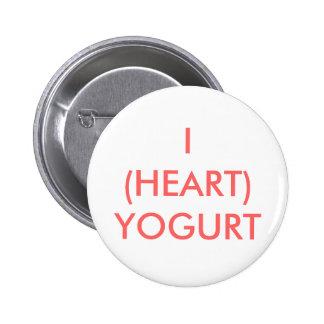 I (HEART) YOGURT PINBACK BUTTON