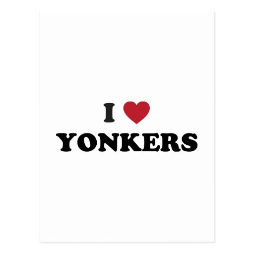 I Heart Yonkers New York Postcard