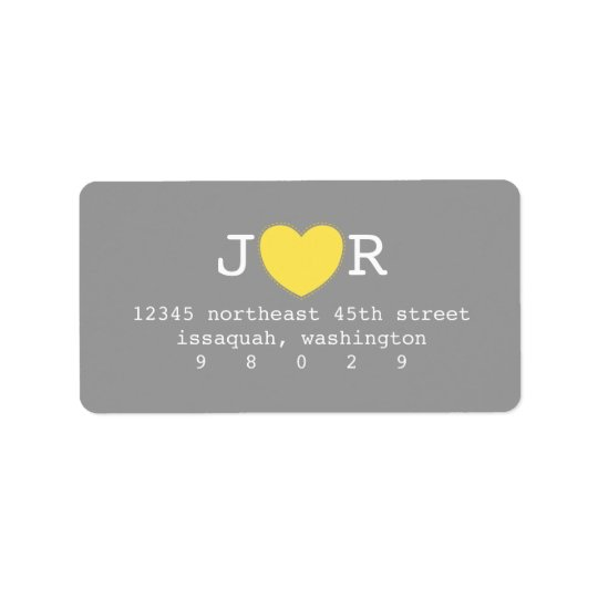 I Heart You Address Label