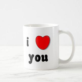 i heart you classic white coffee mug