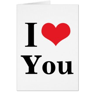 I heart You Greeting Cards