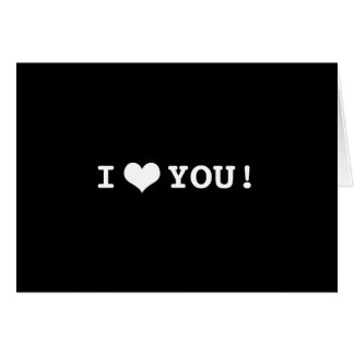I Heart You Happy Valentines Day Black White Greeting Card