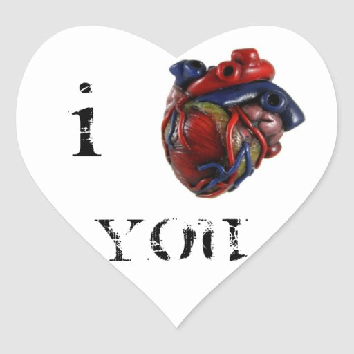 I Heart You Heart Stickers