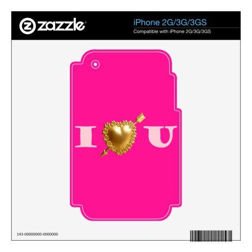 I Heart You iPhone 3 Skin