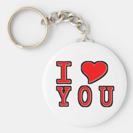 I Heart You Keychains