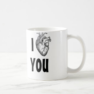 I heart you mug (anatomical heart)
