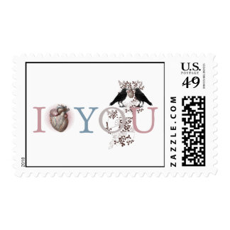 I heart you postage stamps