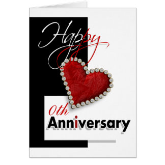 I heart you romantic anniversary card
