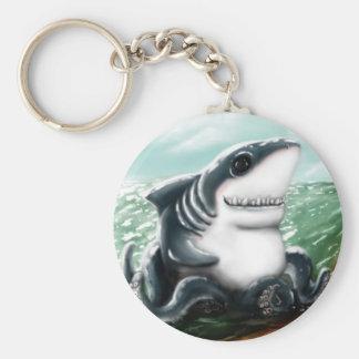 I heart you Sharktopus Basic Round Button Keychain