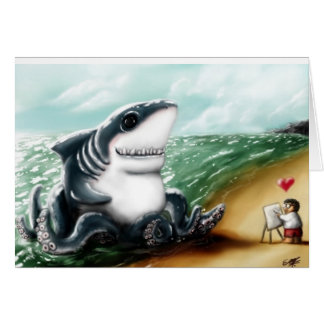 I heart you Sharktopus Cards